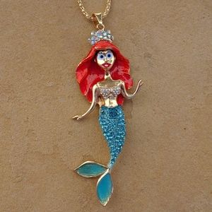 Big Mermaid Charm Summer Statement Necklace